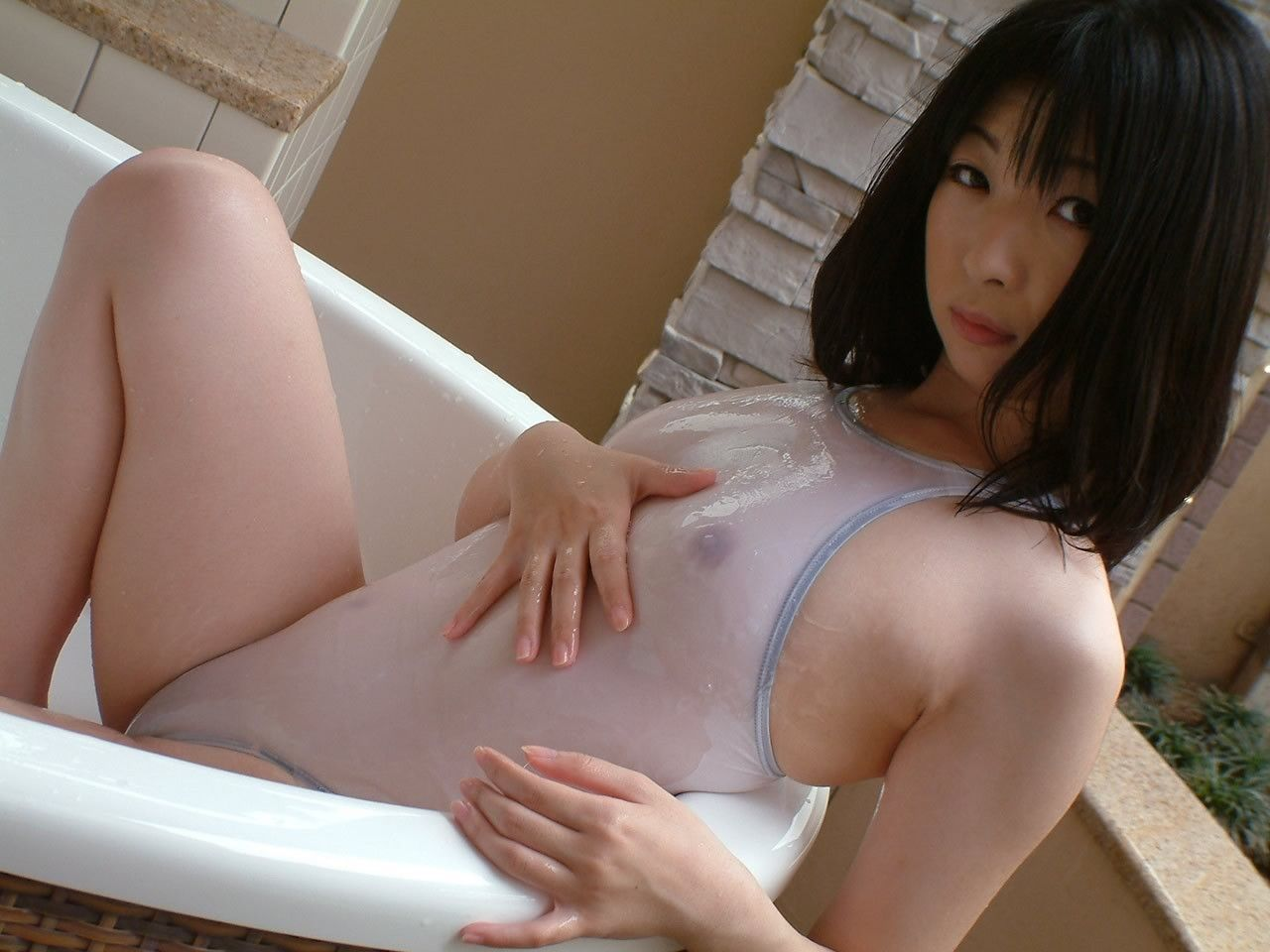 Masturbating asian schoolgirl